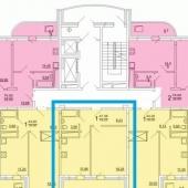 Схема квартиры, Химки, микрорайон Подрезково, ул. Центральная, д. 6 к. 2