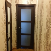 Коридор и двери в комнату  и в санузел