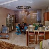 Вот так смотрятся холл и кухня вместе на фотографии