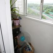 Это алюминиевые окна для балкона