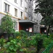 Сам дом панельный и это вид подъезда со двора