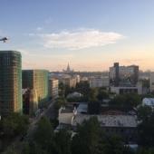 Вид из окна в сторону МГУ
