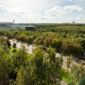 Далее там виден Ясеневский лесопарк