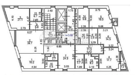 Это схема 4-х комнатной квартиры, площадь 209,7 м2