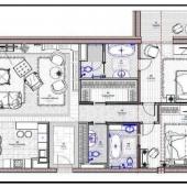 А это схема как можно обыграть план квартиры