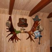 Стена в бильярдной комнате