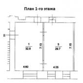 Поэтажный план первого этажа