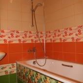 Ванная комната с необычной плиткой