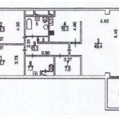 Общая схема по плану этой квартиры в Хилковом переулке, д. 1