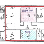 Схема всего офисного этажа под аренду