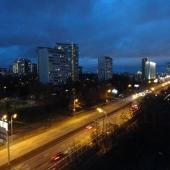Вид в сторону метро Проспект Вернадского