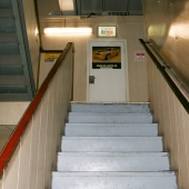 Лестница на второй этаж к офисам