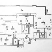 Общая схема квартиры на плане