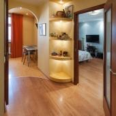 Пространство коридора и кухни
