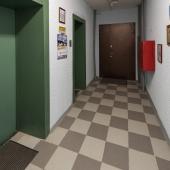 Перед лифтами